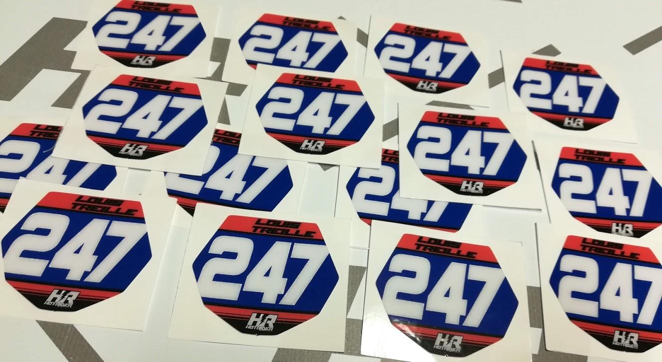 Stickers mini plaques perso