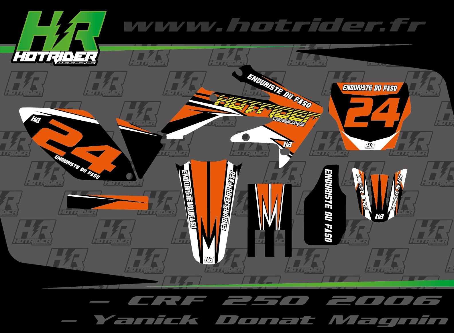 Kit déco perso moto 250 CRF