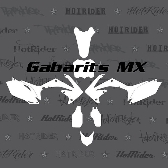 Gabarit kit déco motocross/enduro