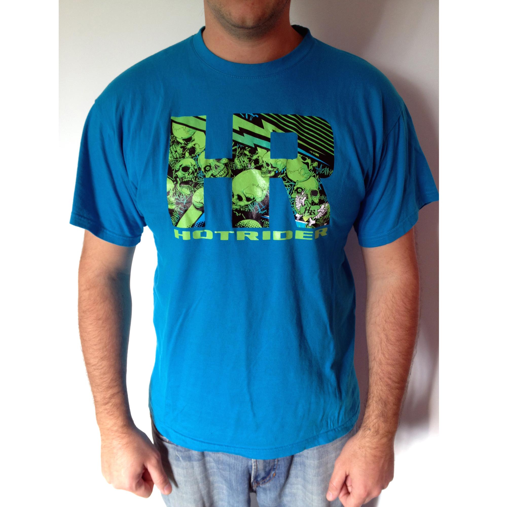 Tee-shirt bleu HR Skulls