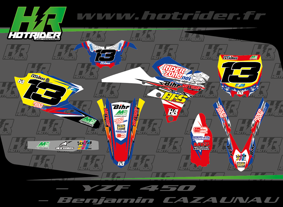 Kit déco perso moto 450 YZF