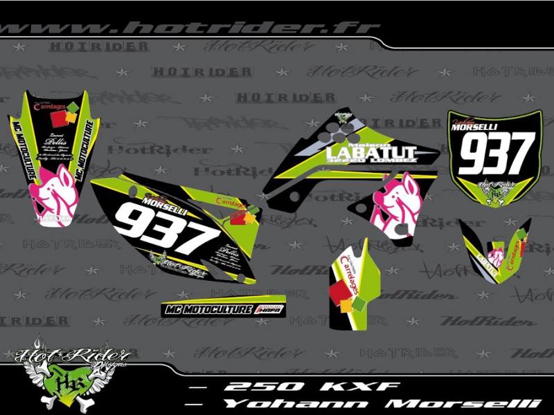 Kit déco perso motocross 250 KXF