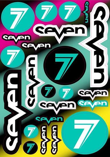 Planche stickers Seven MX