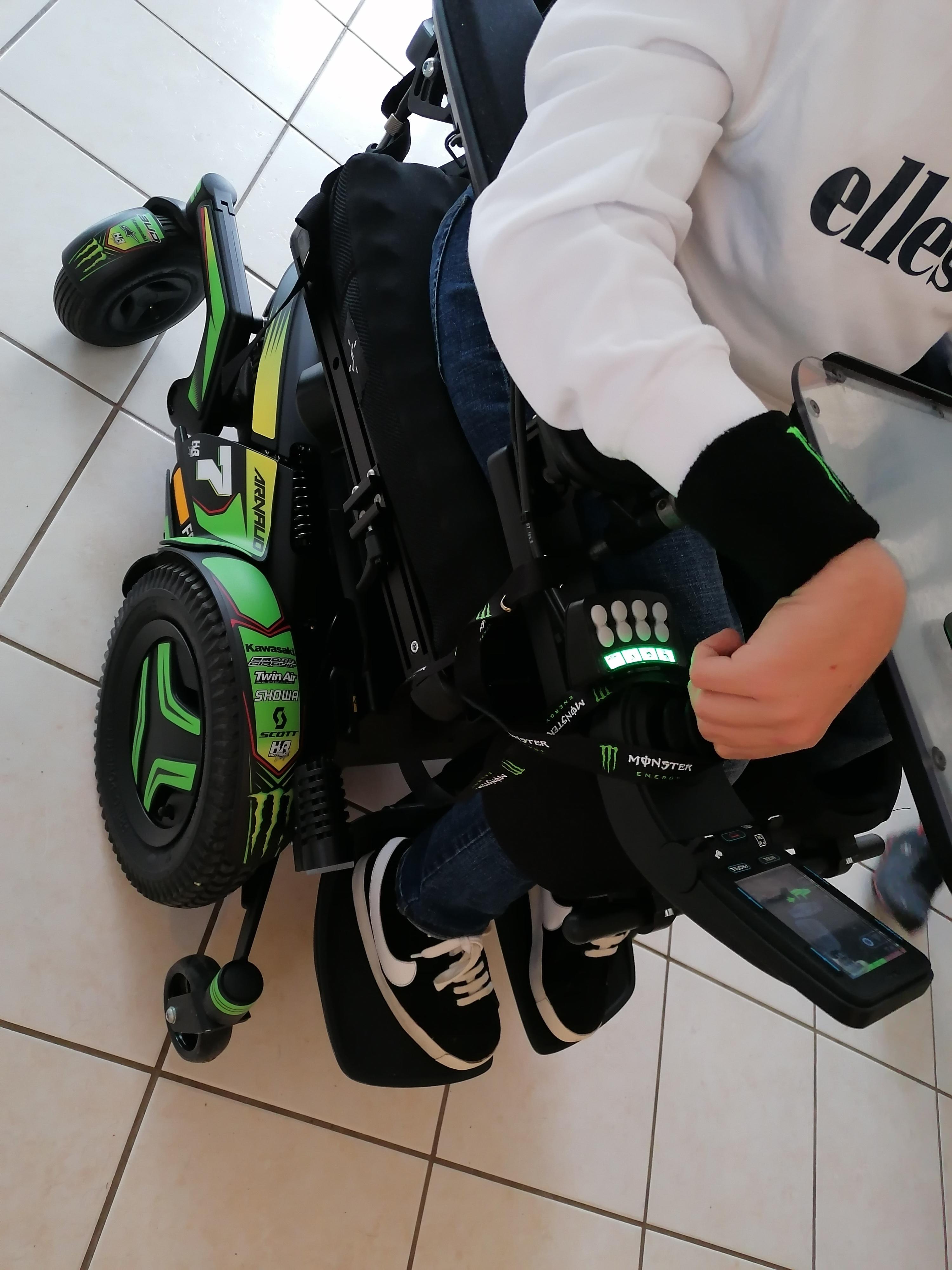 Déco personnalisée fauteuil roulant