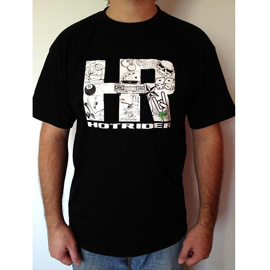 Tee-shirt noir HR Inkabilly HotRider Designs