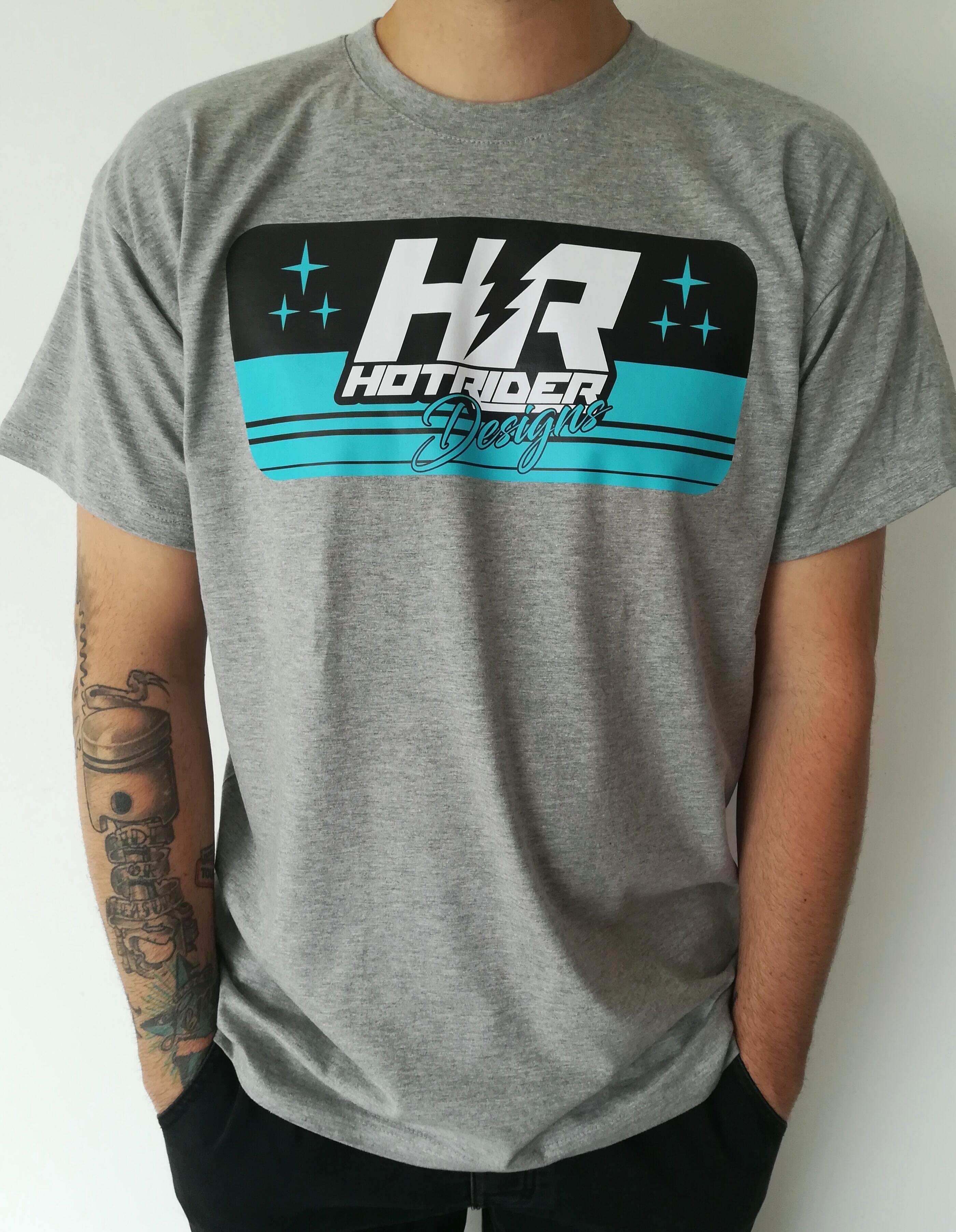 Tee-shirt gris Stars HotRider Design