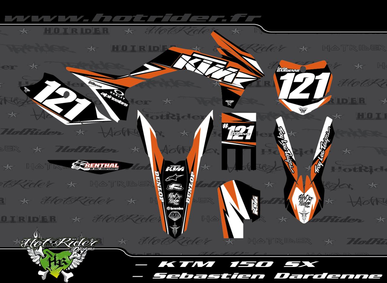 Kit déco perso motocross 150 SX KTM