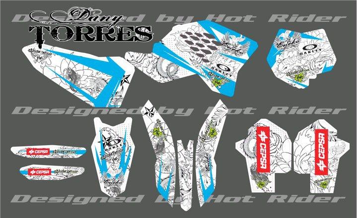 Kit déco perso motocross 450 KTM