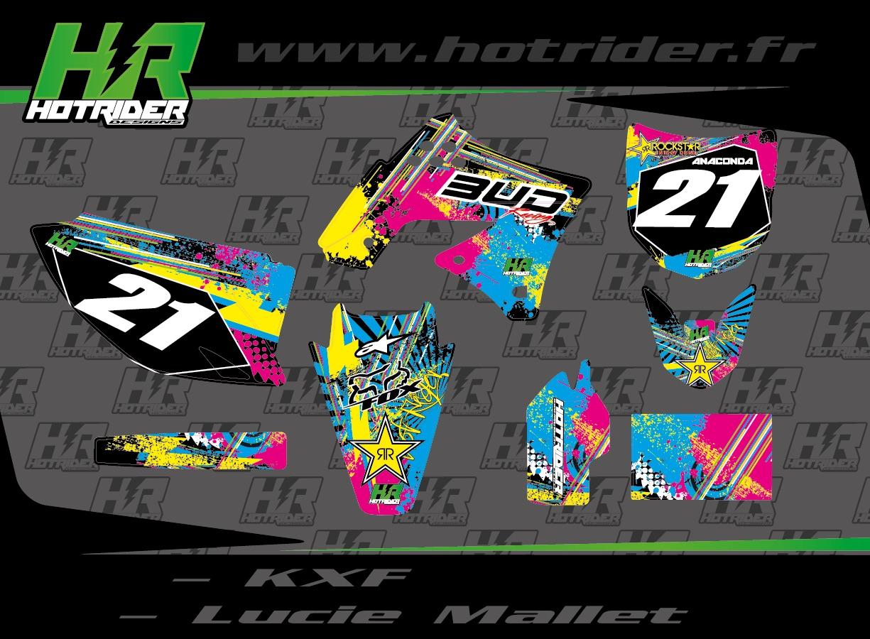Kit déco perso moto 250 KXF