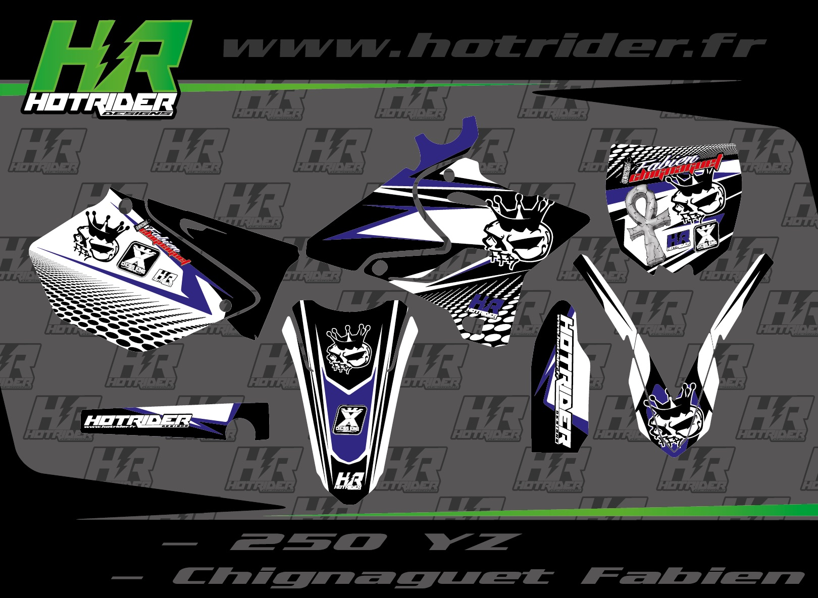 Kit déco perso moto 250 YZ