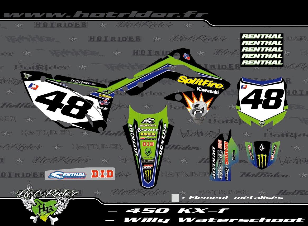 Kit déco perso motocross 450 KXF