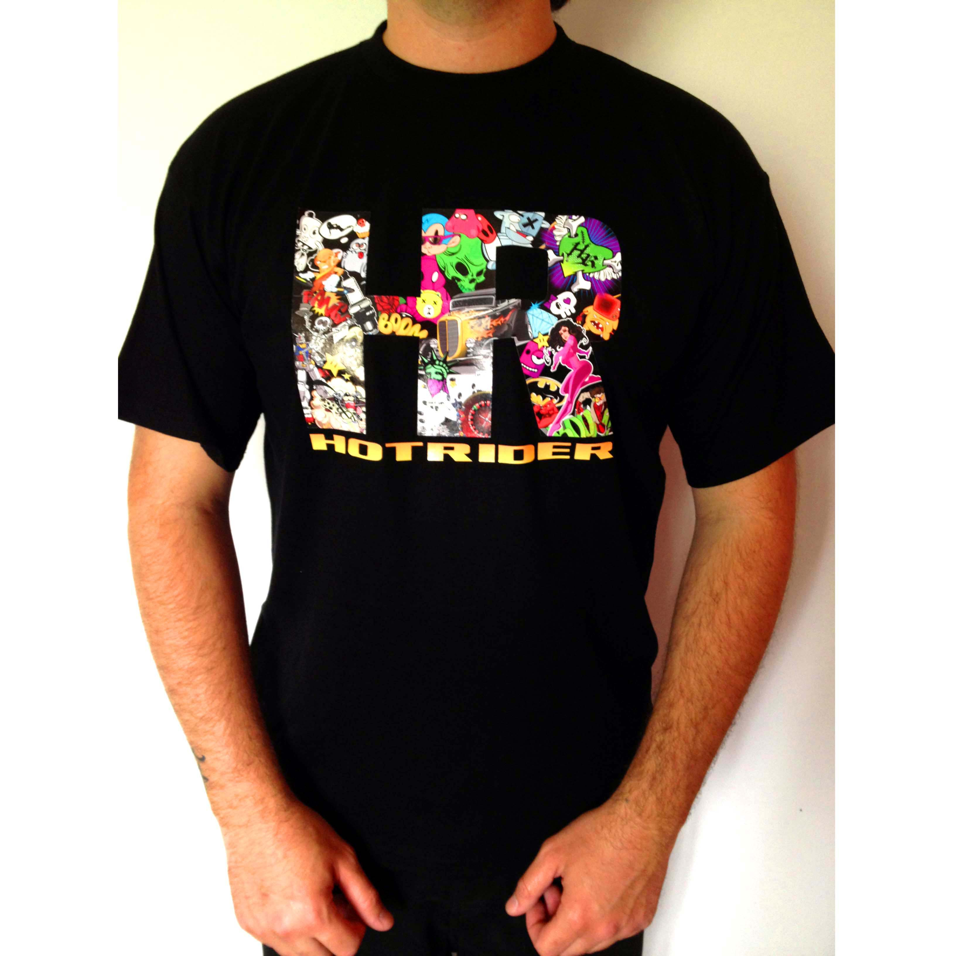 Tee-shirt noir HR Funny