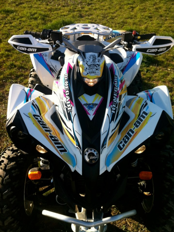 Kit déco perso quad Can Am Renegade