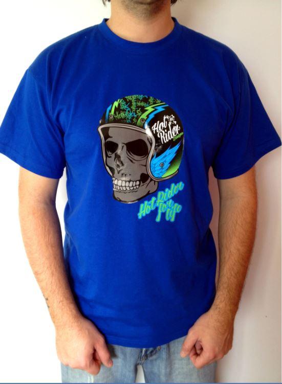 Tee-shirt bleu Helskull