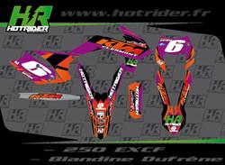Kit déco perso moto 250 EXC