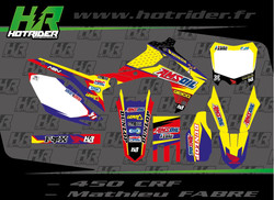 Kit déco perso moto 450 CRF