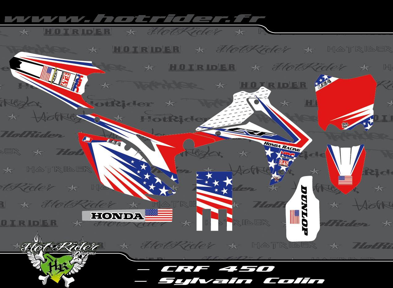 Kit déco perso motocross CRF 450
