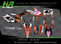Kit déco perso moto 125 EXC