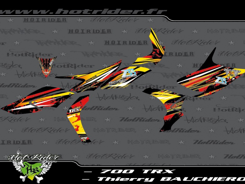 Kit déco perso quad 700 TRX