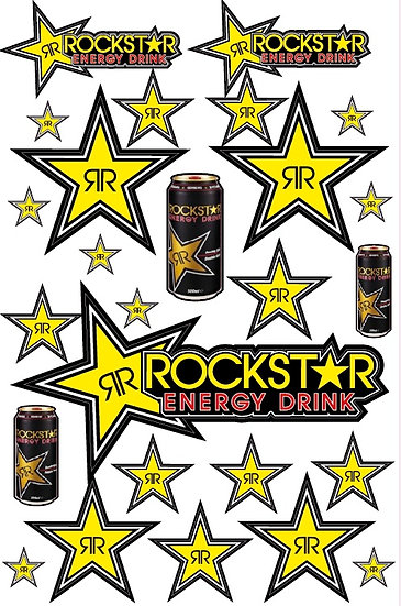 Planche stickers Rockstar Energy