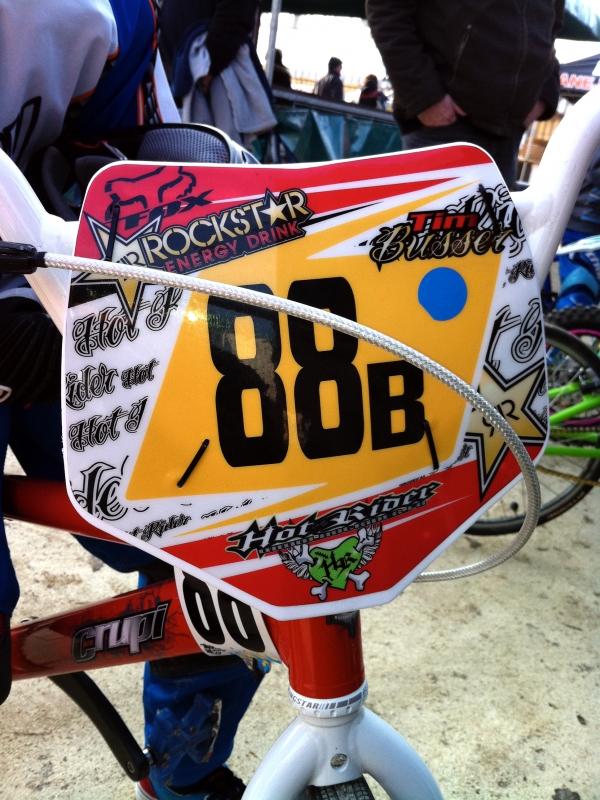Plaque BMX personnalisée