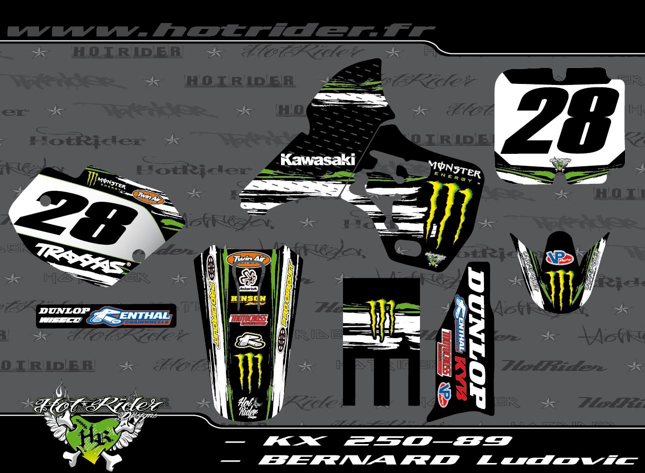 Kit déco perso motocross 250 KX