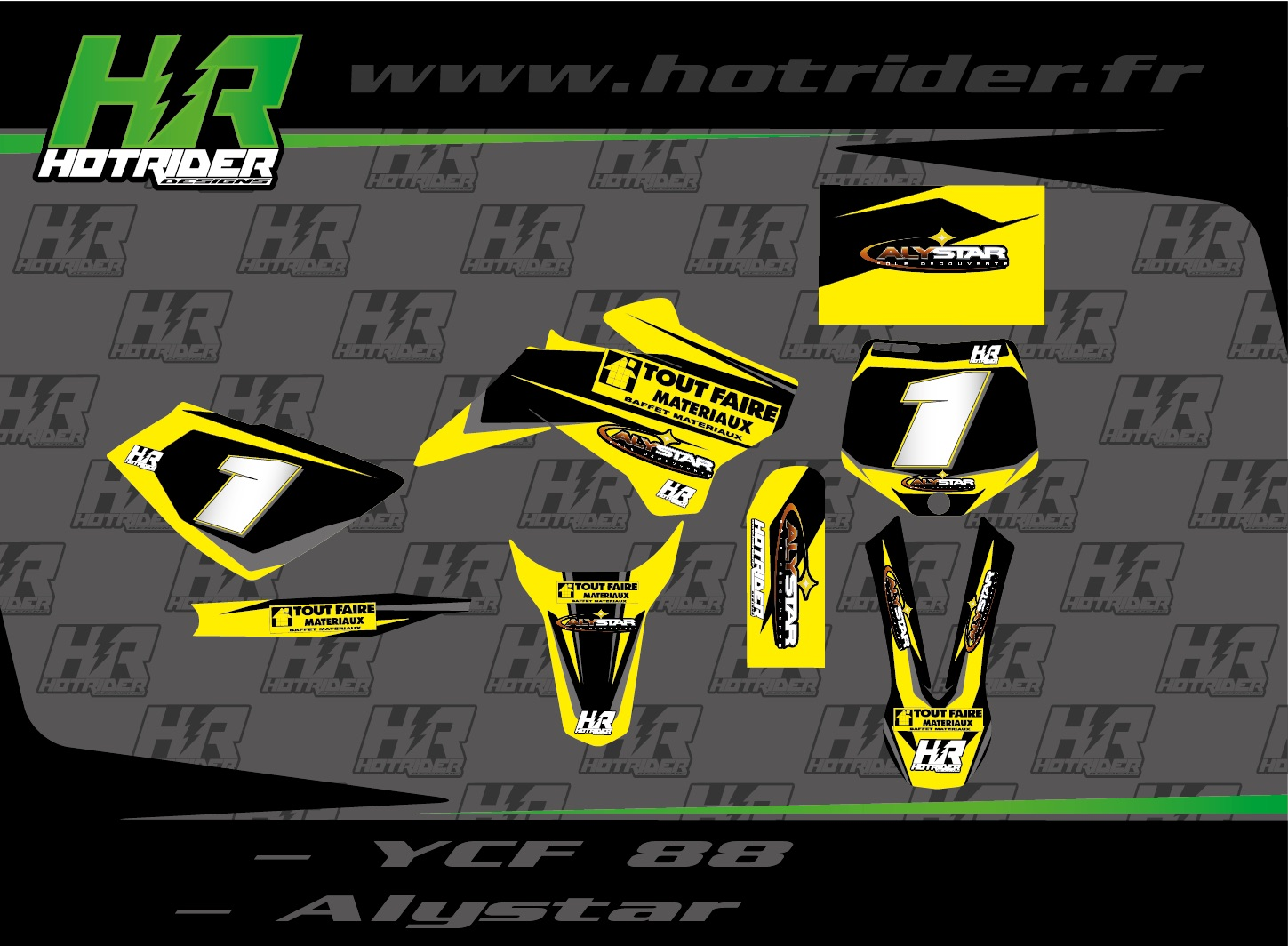 Kit déco perso pit bike YCF 88