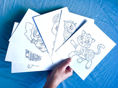 Hand-drawn coloring pages
