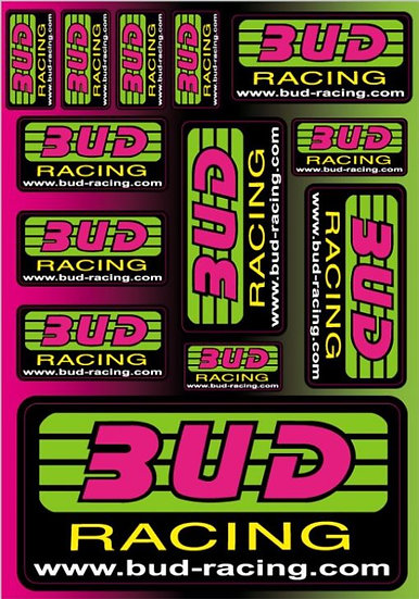 Planche stickers Bud Racing