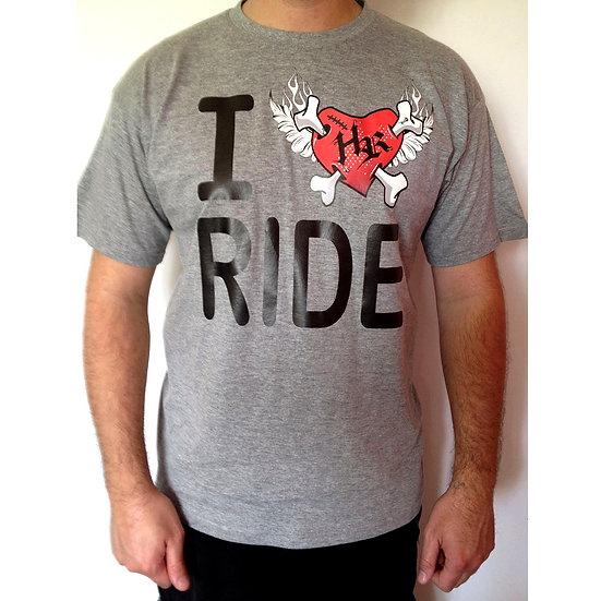 Tee-shirt gris ILoveRIDE HotRider Designs
