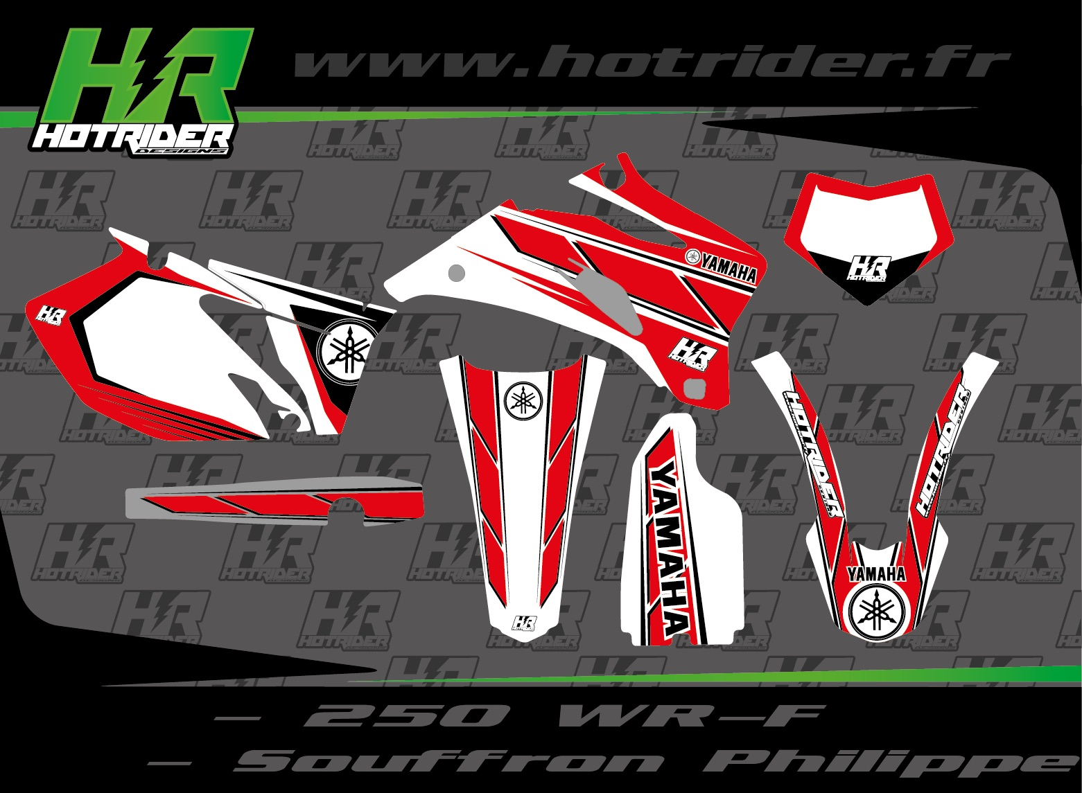 Kit déco perso moto 250 WRF