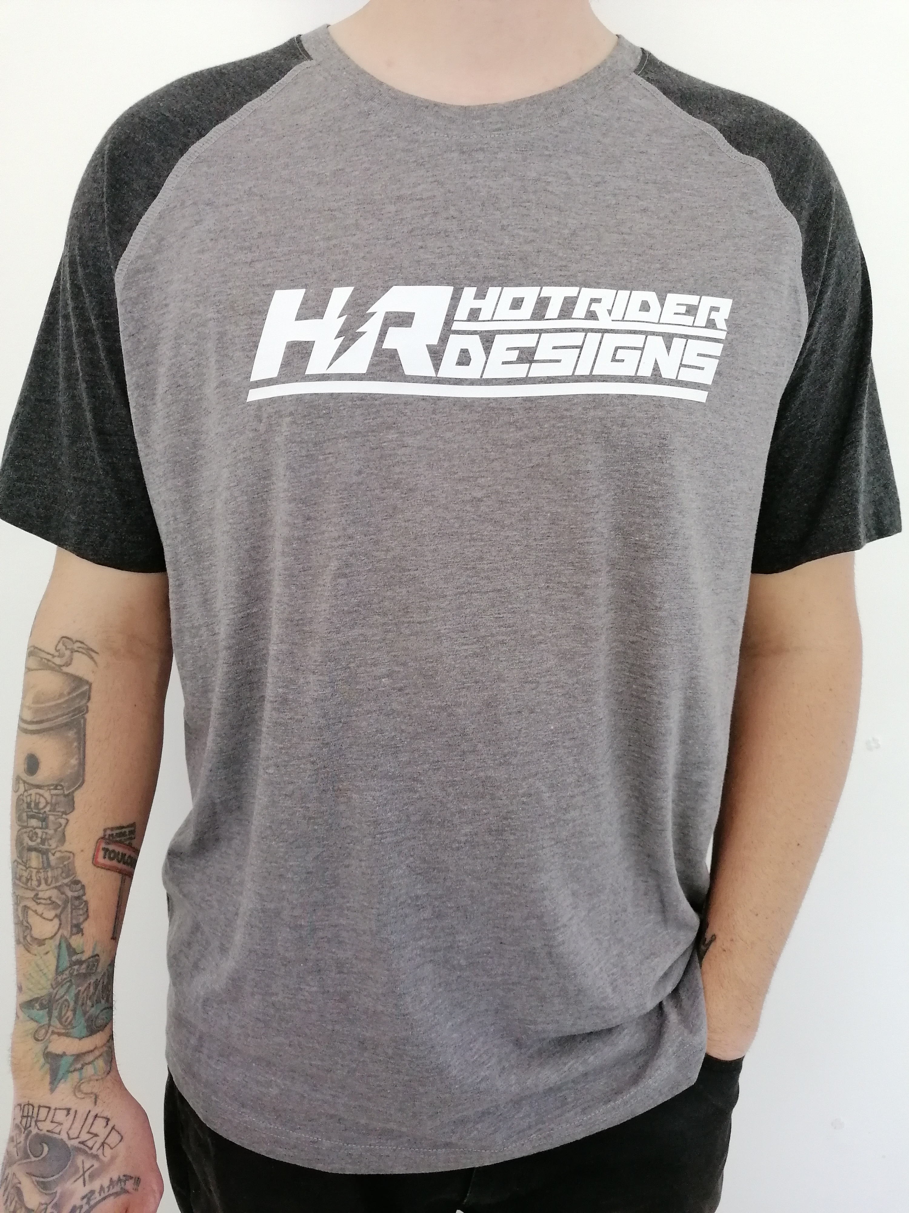 Tee-shirt gris Triblend HotRider Designs