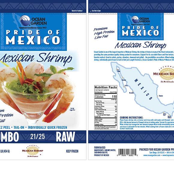 Jumbo EZ Peel Shrimp RAW retail Pack 冷凍生海老尾付き殻付き 小売りパック