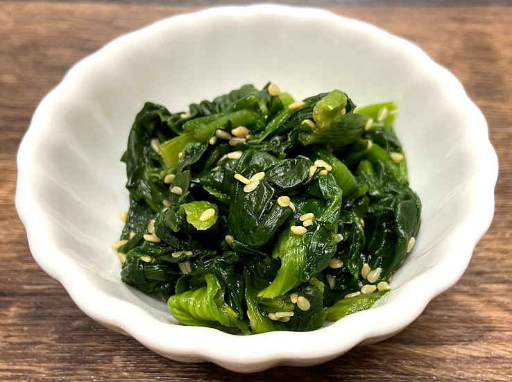 Seasoned Spinach with Sesame ほうれん草胡麻和え