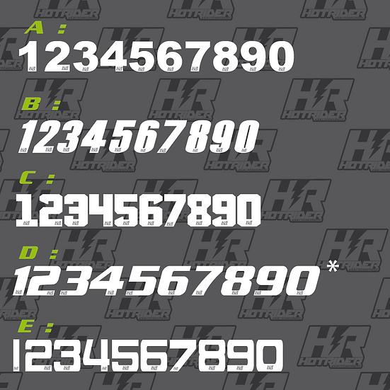 Numéro de course lié/sur mesure