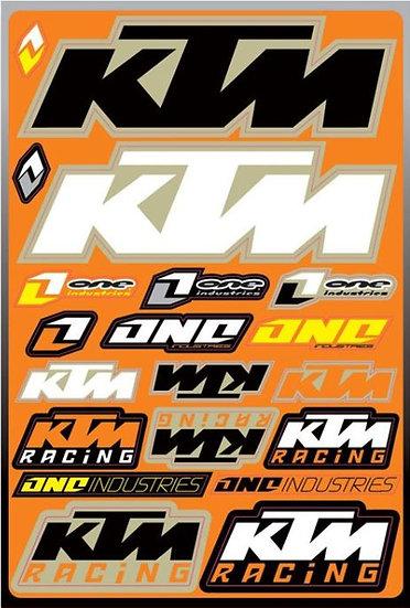 Planche stickers One KTM