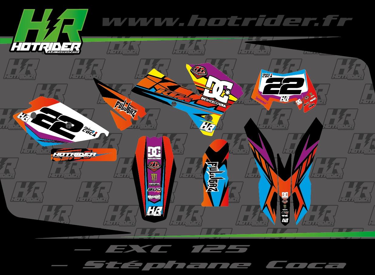 Kit déco perso moto KTM EXC