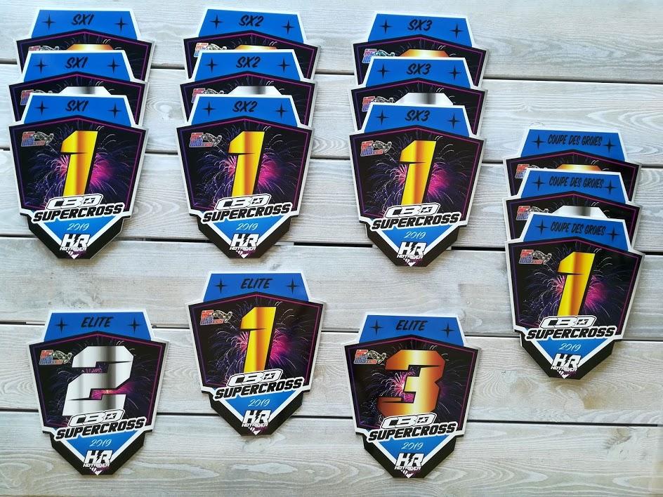 Trophées personnalisés supercross