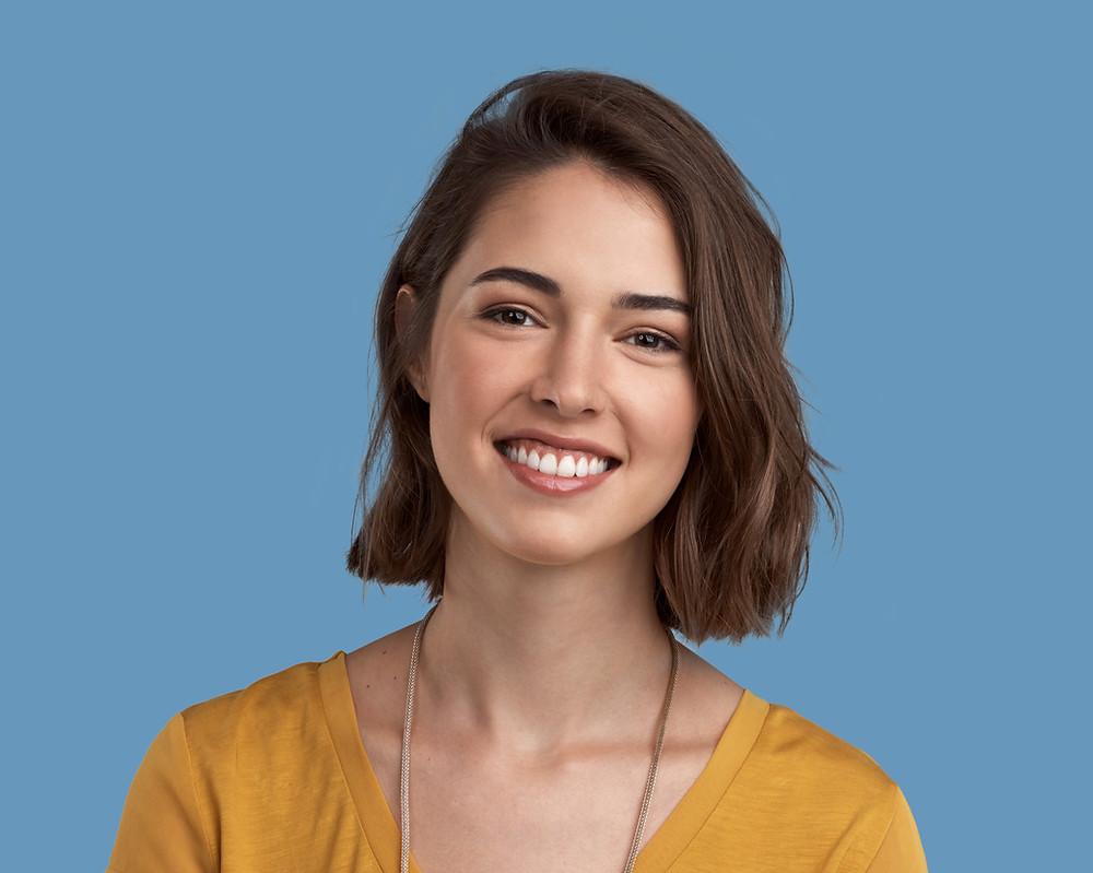 smiling youthful woman