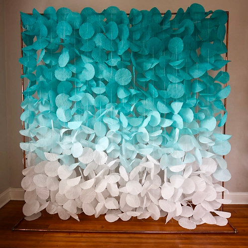 Paper Circle Garland: Turquoise Ombré