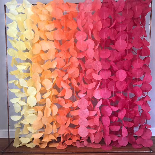 Paper Circle Garland: Sunset Ombré