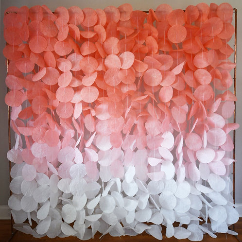 Paper Circle Garland: Coral Ombré
