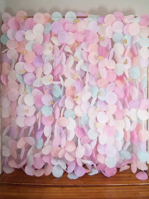 Paper Circle Garland: Pastels
