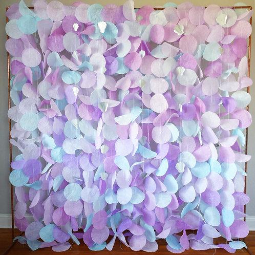 Paper Circle Garland: Mermaid Pastels