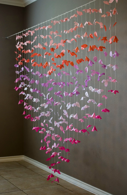 Anthropologie inspired paper flower garland cascading paper flower garland inspired by a backdrop featured in the anthropologie store it would be beautiful as a wedding ceremony backdropreception mightylinksfo