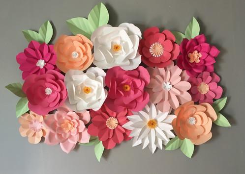 Paper flower backdrop mightylinksfo
