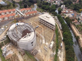 Catedral Cristo Rei: piso do templo tem a primeira etapa concluída