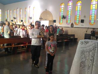 Celebração da Missa da Sagrada Família. Veja as fotos das celebrações na Matriz na Manhã e Noite.