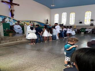 Missa das intenções dos vicentinos, comemoração de conferências e Conselho Particular e Batismo dos