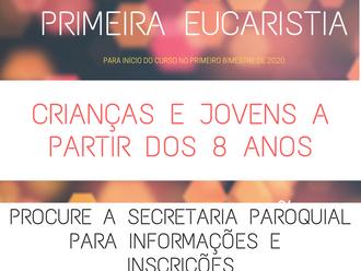 Abertas as inscrições para a Catequese da Primeira Eucaristia